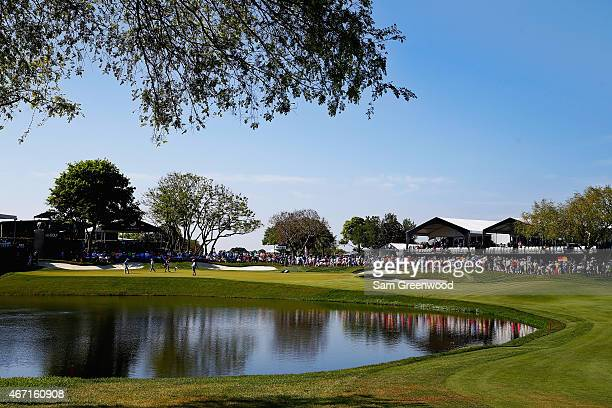 A general view is seen of the eighth hole during the third round of the Arnold Palmer Invitational Presented By MasterCard at the Bay Hill Club and...
