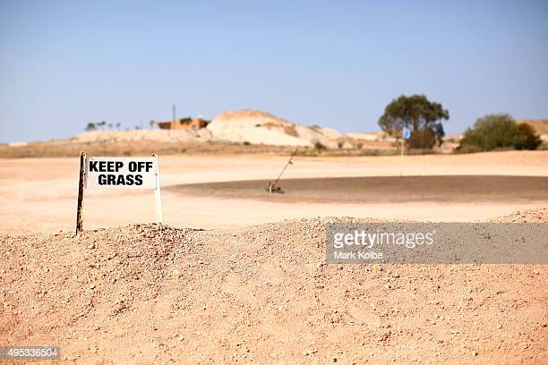 A general view is seen of the fourth ''green' of the Coober Pedy Golf Course on October 22 2015 in Coober Pedy Australia Coober Pedy is the only club...