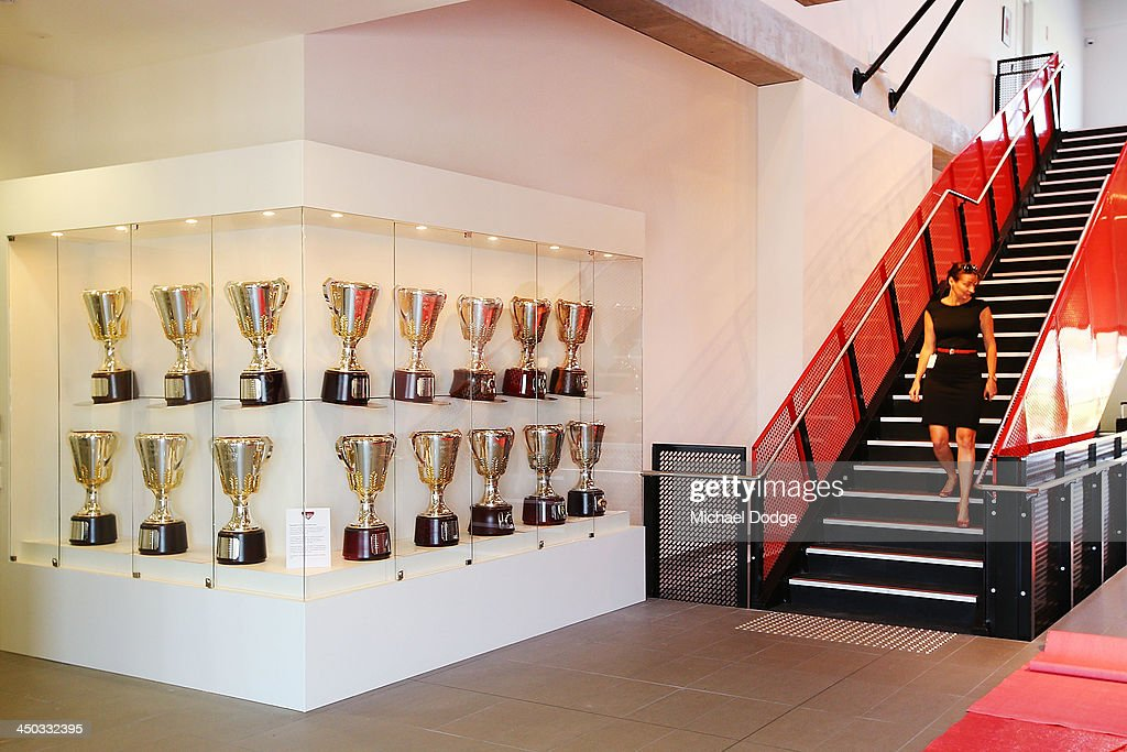 A general view is seen of the foyer at the new Essendon Bombers AFL training facility at Tullamarine on November 18, 2013 in Melbourne, Australia.