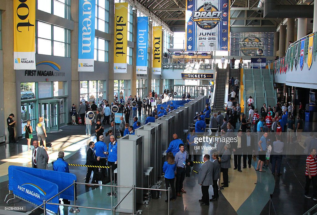 A general view is seen of the interior of First Niagara Center prior to round one of the 2016 NHL Draft at First Niagara Center on June 24, 2016 in Buffalo, New York.
