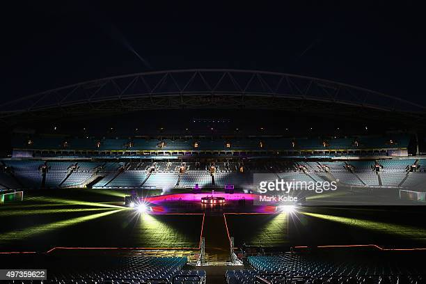 A general view is seen of the stadium during the 10th Anniversary of 2006 FIFA World Cup Qualification Match Between Australia Uruguay at ANZ Stadium...
