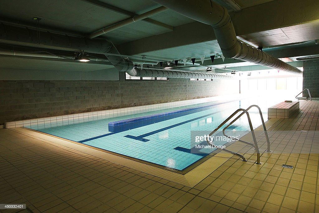 A general view is seen of the swimming pool at the new Essendon Bombers AFL training facility at Tullamarine on November 18, 2013 in Melbourne, Australia.