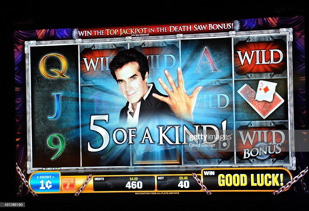 A general view is seen of the video screen from the slot machine, 'The Magic of David Copperfield,' by Bally Technologies at the MGM Grand Hotel/Casino on June 26, 2014 in Las Vegas, Nevada.