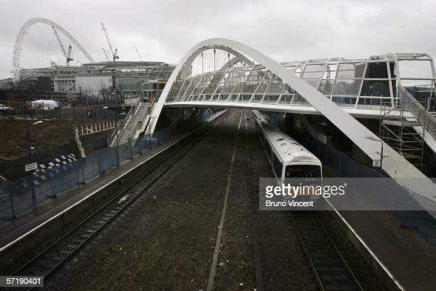 A general view is seen of Wembley train station on March 27 2006 in London