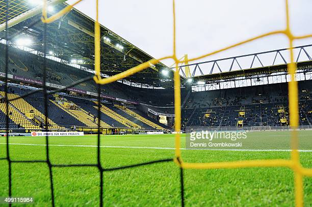 A general view is seen prior to kickoff during the Bundesliga match between Borussia Dortmund and VfB Stuttgart at Signal Iduna Park on November 29...