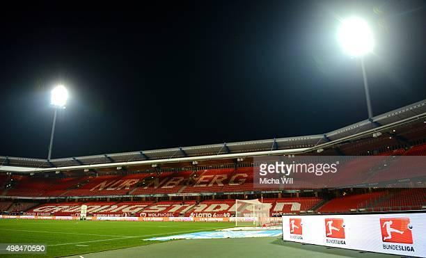 A general view is seen prior to the Second Bundesliga match between 1 FC Nuernberg and Eintracht Braunschweig at GrundigStadion on November 23 2015...