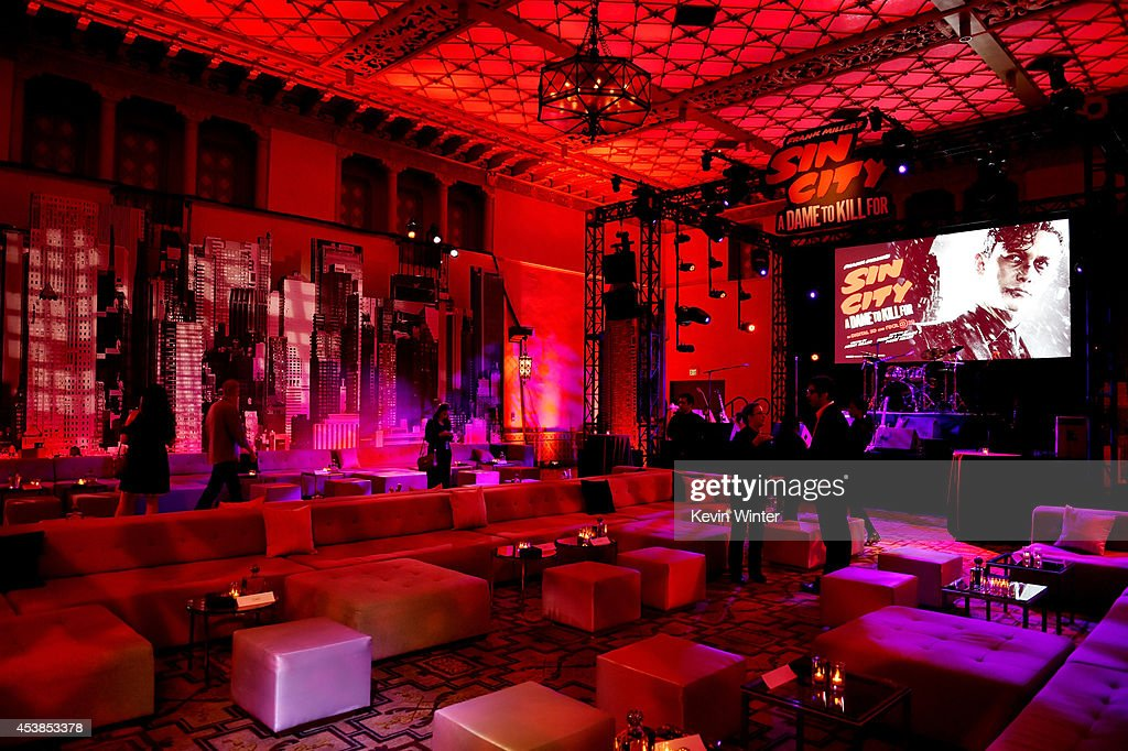 A general view is shown at the after party for the premiere of Dimension Films' 'Sin City: A Dame To Kill For' at the Roosevelt Hotel on August 19, 2014 in Los Angeles, California.