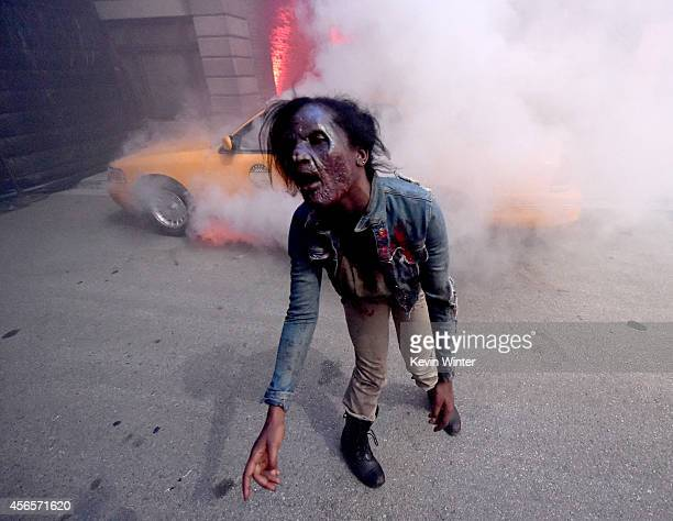 A general view is shown at the after party for the premiere screening of AMC Networks' 'The Walking Dead' Season 5 at the Universal Studios Backlot...