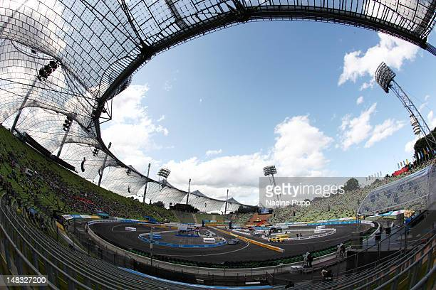 General view is taken during the DTM German Touring Car Munich 2012 at Olympiastadion on July 14 2012 in Munich Germany