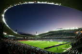 A general view just before kickoff during the round 22 ALeague match between Sydney FC and the Western Sydney Wanderers at Allianz Stadium on March 8...