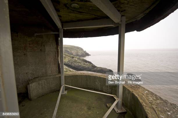 A general view looking inside WWII fortifications on Flat Holm island in the Bristol Channel Flat Holm is a limestone island in the Bristol Channel...