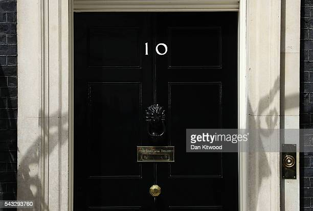A general view of 10 Downing Street following a cabinet meeting on June 27 2016 in London England British Prime Minister David Cameron chaired an...