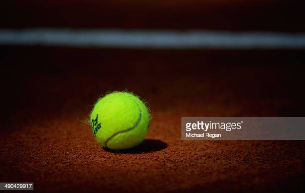 General view of a ball on the clay during day 4 of the Internazionali BNL d'Italia 2014 on May 14 2014 in Rome Italy