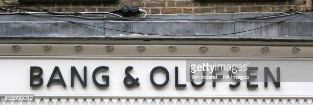 General view of a Bang Olufsen electrical goods outlet in Covent Garden central London