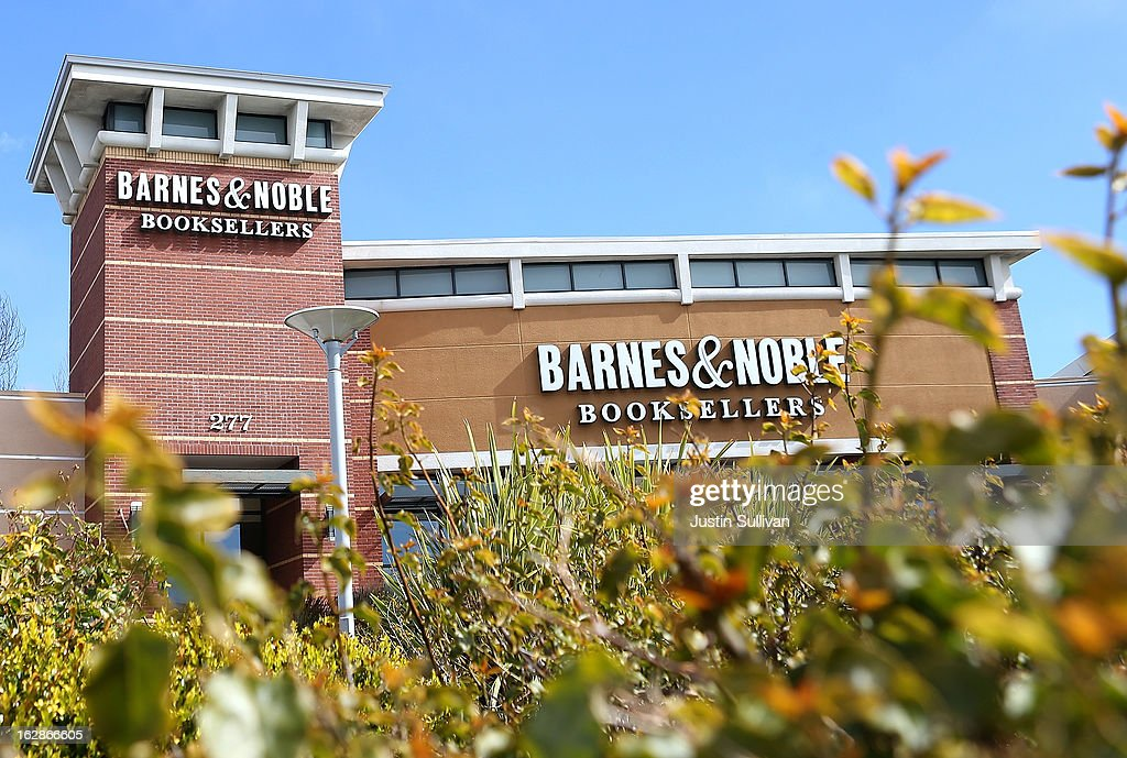 A general view of a Barnes and Noble bookstore on February 28, 2013 in San Bruno, California. Bookseller Barnes & Noble reported a weak quarter and a 26 percent drop in sales of its Nook e-reader to post a 8.8 percent decline in revenue and a net loss of $6.1 million, or 18 cents a share, compared to a profit of $52 million, or 71 cents a share one year ago.