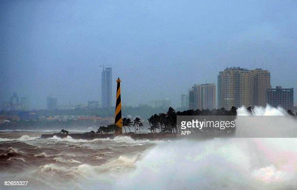 General view of a beach in Santo Domingo taken on September 3 2008 Tropical Storm Hanna's heavy rains over the northern part of the country have...