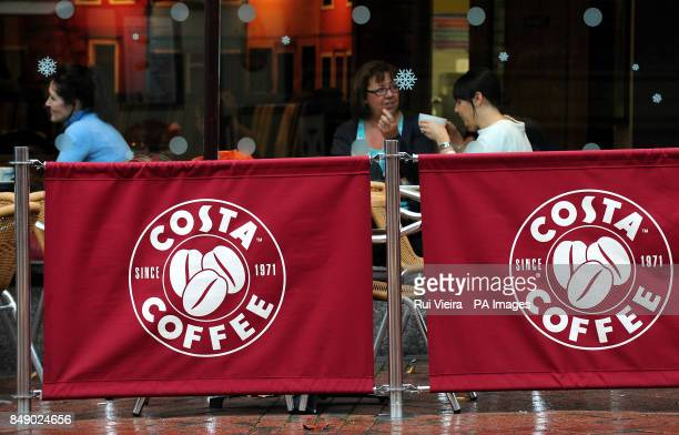 A general view of a branch of Costa Coffee in Derby city centre