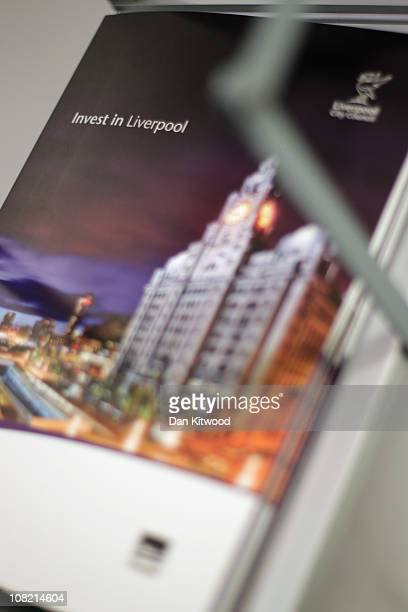 A general view of a brochure promoting the new Liverpool Business Embassy on January 21 2011 in London England Liverpool is the first UK city to open...
