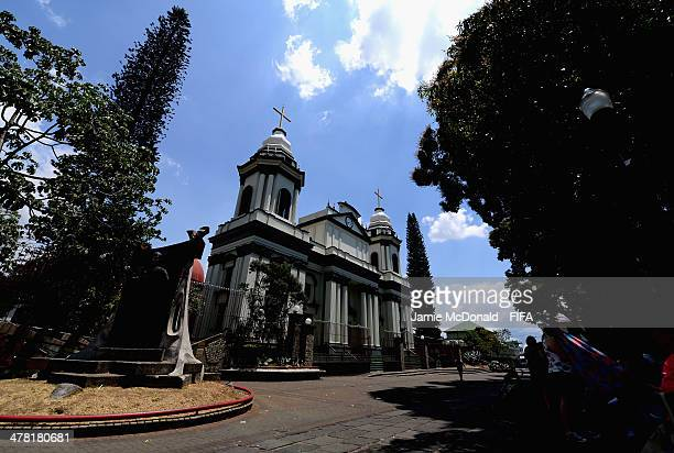 A general view of a church in Alajuela on March 12 2014 in Alajuela Costa Rica