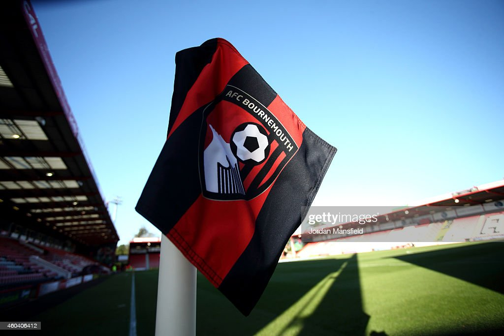 A general view of a corner flag ahead of the Sky Bet Championship match between AFC Bournemouth and Cardiff City at Goldsands Stadium on December 13, 2014 in Bournemouth, England.