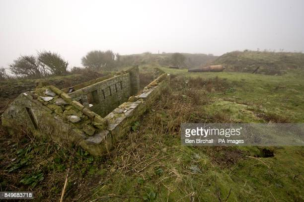 A general view of a derelict Victorian building on Flat Holm island in the Bristol Channel Flat Holm is a limestone island in the Bristol Channel...