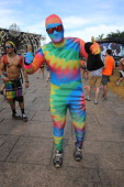 General view of a festivalgoer at Bayfront Park Amphitheater on March 29 2014 in Miami Florida
