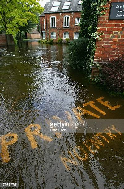 General view of a flooded St Helen's Mill close to where the Rivers Ock and Thames meet on July 24 2007 in Abingdon England The flooding crisis in...