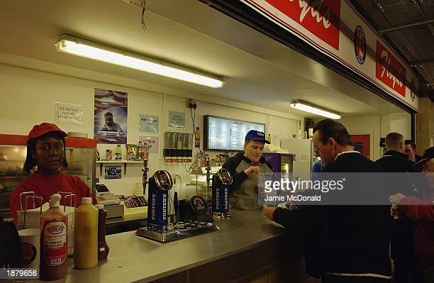 General view of a food outlet inside the ground during the FA Barclaycard Premiership match between Charlton Athletic and Newcastle United held on...