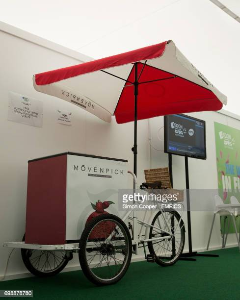 A general view of a free Ice Cream stand in the Players Lounge