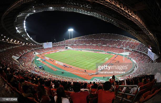 A general view of a Full house at Rajamangala Stadium during the international friendly match between Thailand and Liverpool at Rajamangala Stadium...