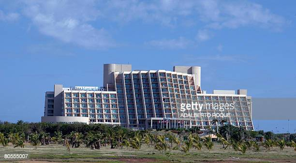 General view of a hotel in Varadero beach 130 km east of Havana on April 6 2008 The lifting by Cuban President Raul Castro of the prohibition to...
