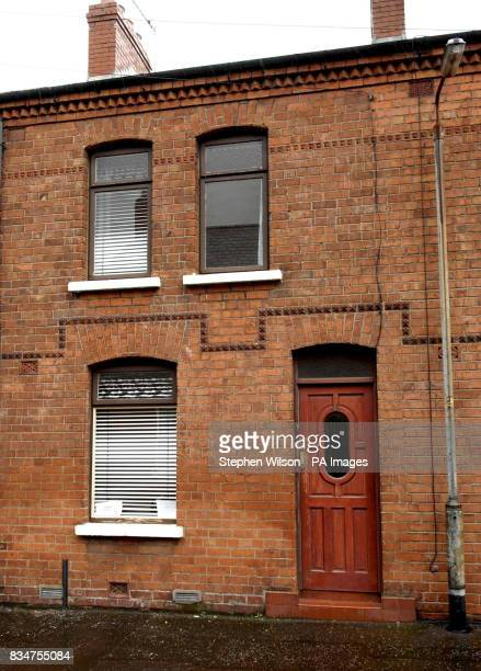 A general view of a house in Egeria South Belfast where a landlord placed a sign advertising a property saying 'This property is not available for...