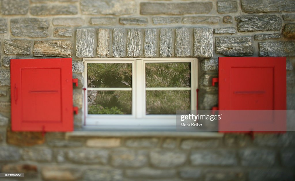 A general view of a house window in the village is seen on May 31 , 2010 in Saas-Fee, Switzerland.