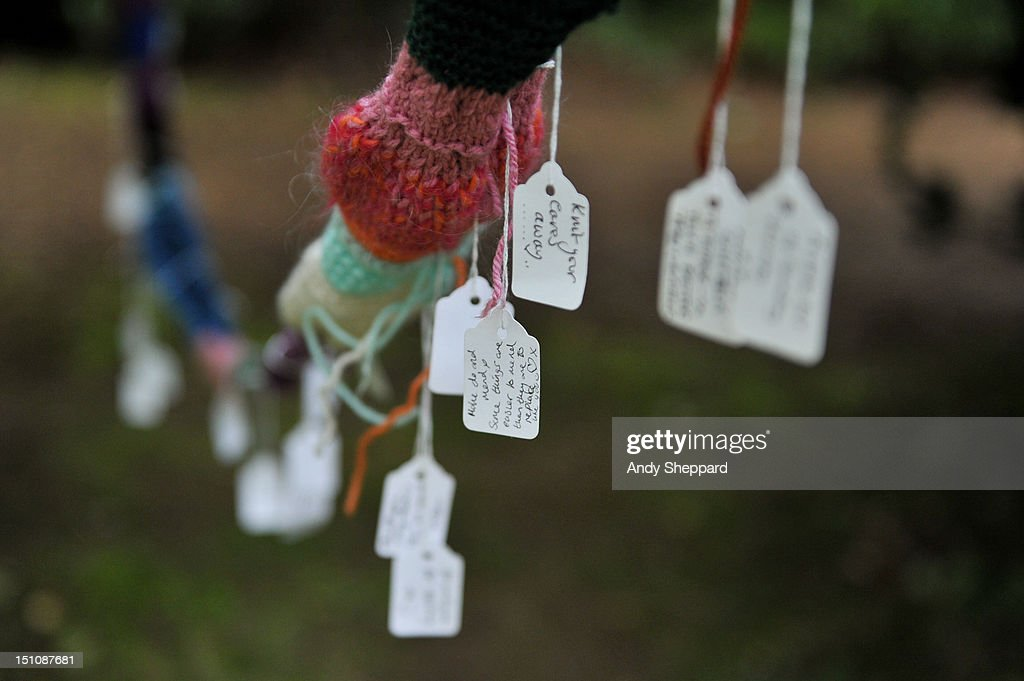 A general view of a knitting installation in the forest area during End Of The Road Festival 2012 at Larmer Tree Gardens on August 31, 2012 in Salisbury, United Kingdom.