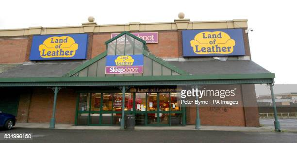 A general view of a Land of Leather store in Edge Lane Liverpool as the future of 850 staff at furniture retailer Land of Leather was thrown into...