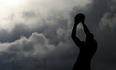 A general view of a lineout jumper catching the ball during the Aviva Premiership match between Exeter Chiefs and London Irish at Sandy Park on...