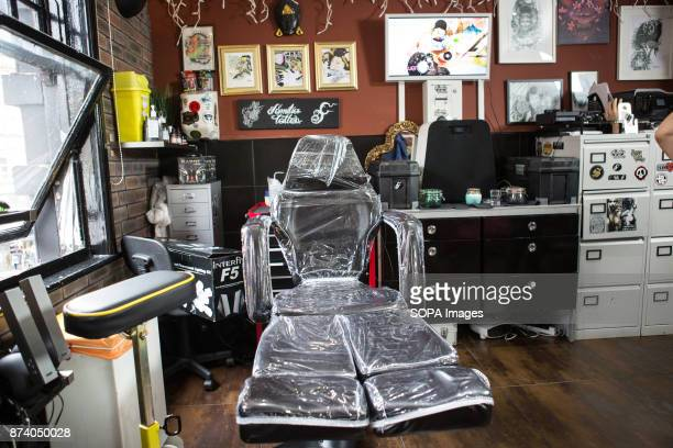A general view of a local tattoo studio in Leeds The popularity of tattoos has increased dramatically in the UK over the past few years especially...
