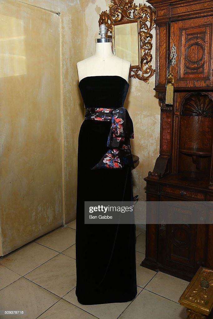 A general view of a manikin wearing designs by Sachin & Babi at the Sachin & Babi presentation during Fall 2016 New York Fashion Week at 632 On Hudson on February 10, 2016 in New York City.
