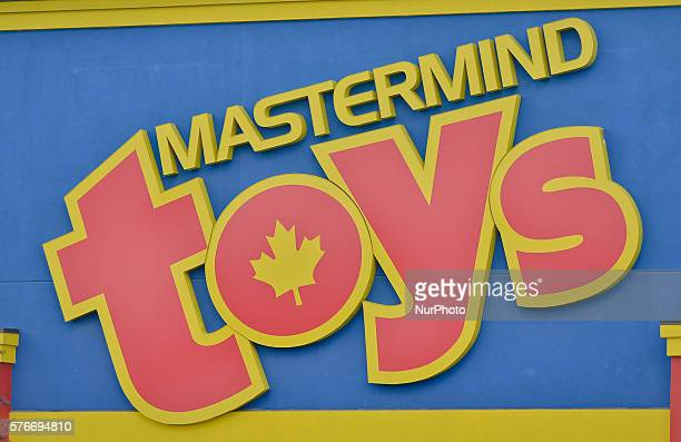 A general view of a 'Mastermind Toys' logo seen in South Edmonton Common a retail power centre located in Edmonton Alberta The flagship shopping...