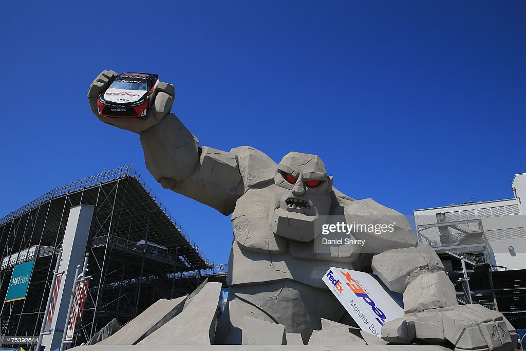 A general view of a Miles the Monster statue prior to the NASCAR Sprint Cup Series FedEx 400 Benefiting Autism Speaks at Dover International Speedway...