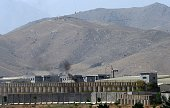 General view of a military academy base after an Afghan soldier opened fire on NATO troops inside the premises on the outskirts of Kabul on August 5...