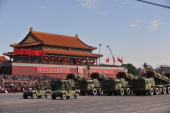 A general view of a Military Parade in front of the Tiananmen Gate to mark 60 years of Chinese communism on October 012009 in BeijingChina