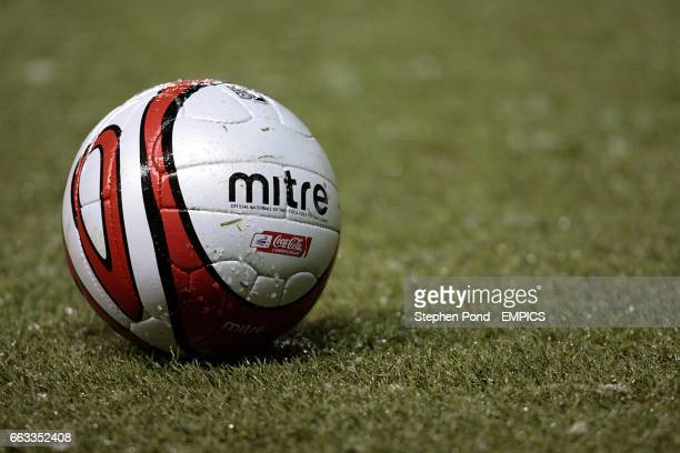 General view of a Mitre matchball