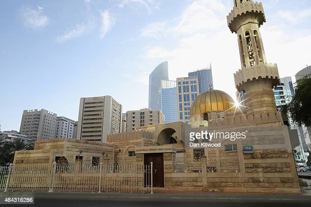 A general view of a Mosque near the Central Souk on February 4 2015 in Abu Dhabi United Arab Emirates Abu Dhabi is the capital of the United Arab...