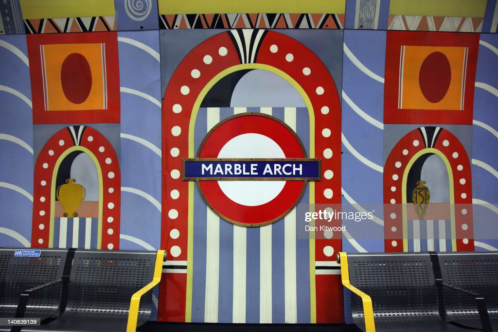 A general view of a mural on the wall at Marble Arch Undergound station on February 14, 2012 in London, England. London's underground rail system, commonly called the tube, is the oldest of its kind in the world dating back to 1890. It carries approximately a quarter of a million people around its network every day along its 249 miles of track and 270 stations. The network has undergone several years of upgrade work and refurbishment in preparation for the Olympic Games which take place this summer. During this time the tube is expected to carry millions of visitors to and from the Olympic Parks.
