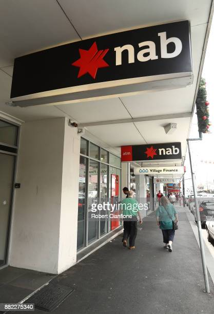 A general view of a NAB Bank branch on November 30 2017 in Melbourne Australia Prime Minister Malcolm Turnbull today announced that the federal...