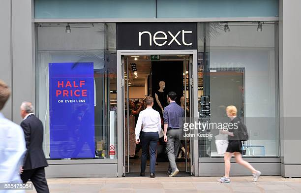 A general view of a Next fashion retail outlet shop front in Fenchurch street on July 28 2016 in London England