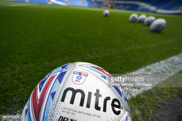 A general view of a official mitre matchball of the Sky Bet EFL