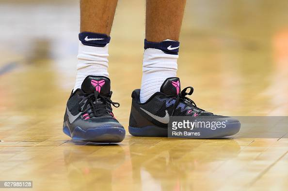 General view of a pair of Nike sneakers worn by a Syracuse Orange player prior to the game against the North Florida Ospreys at the Carrier Dome on...