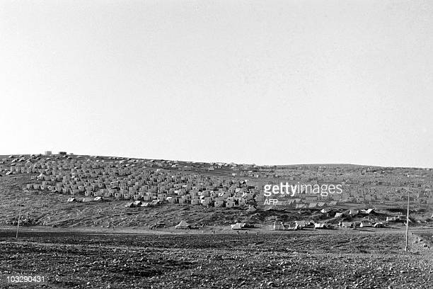 General view of a Palestinian refugee camp near Amman in Jordan on November 07 1970 In September 1970 King Hussein of Jordan decided to put an end to...